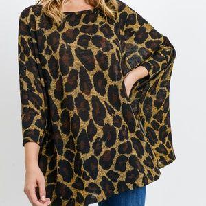 LAST ONE!! Leopard Print Oversized Top